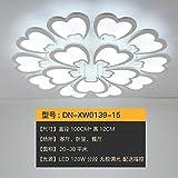 HUANGXIN & LIEF Wohnzimmer Deckenlampe Moderne Scheinwerfer Schlafzimmer Lampe runde Atmosphäre Licht Dekoration Acryl Deckenleuchte 15 Stück 100cm Remote Dimming