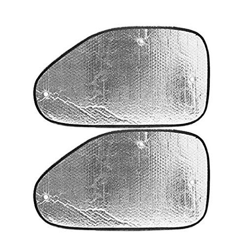 Zanteca - 2 piezas parasol ventana coche, color plateado
