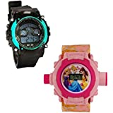 Shanti Enterprises Combo Princess 24 Images Projector Watch And Sports Watch Multi Color Dial For Kids - B07573KY5H