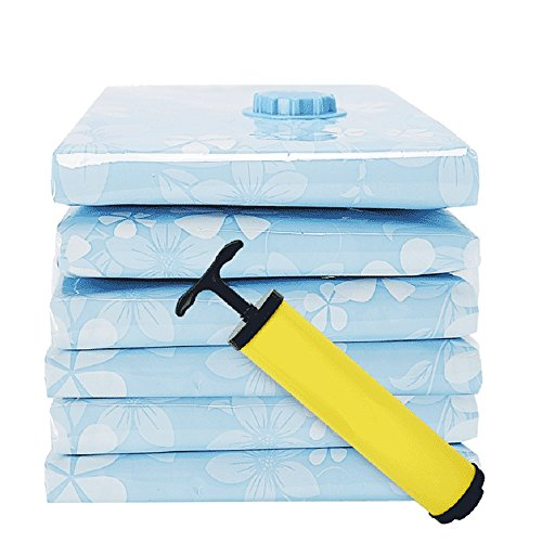 QFFL Sac de compression sous vide Bleu transparent / épaississement sac de compression sous vide / multiple tailles sac de compression de courtepointe / vêtements de voyage trier le sac (un paquet de 3) Sac de protection ( taille : 100*80cm )
