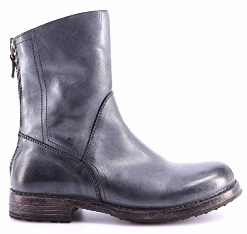 MOMA Scarpe Stivale Donna 86502-6F Ghost Platino Pelle Vintage Made Italy Nuove
