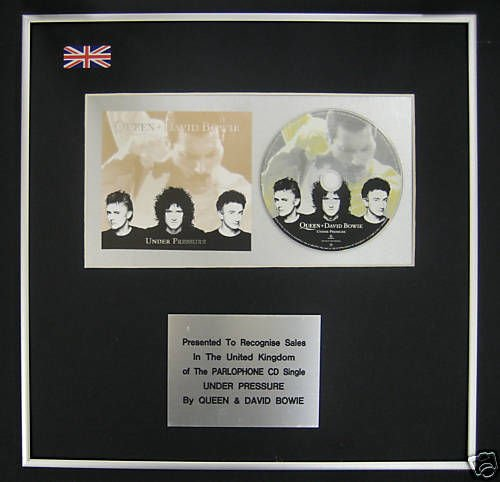 UK Music Awards Queen & Dave Bowie - CD Single Award - Unter Druck