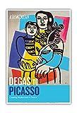 Degas à Picasso - Le modernisme en France - Mère et l'enfant - Affiche d'exposition Vintage de Fernand Léger c.1949 - Reproduction Professionelle d'art Master Art Print - 33cm in x 48cm