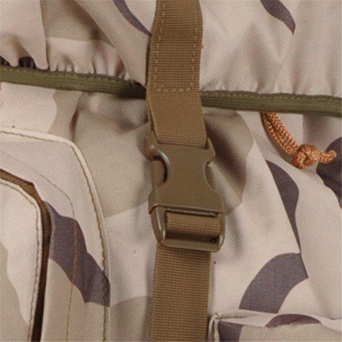 aofit 100L grande capacità zaino militare combattimento tattico Zaino Trekking Zaino Outdoor Sport Zaino Zaino multifunzione con telaio in alluminio a forma di U borsa da viaggio campeggio zaino da es SS camouflage