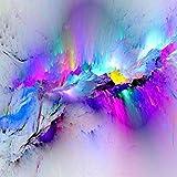 sanzangtang Abstrakter Wandkunst-Leinwanddruck auf dem Wandplakat, Bunte Wolkensegeltuchmalerei und Druckschlafzimmer-Dekorationsbild