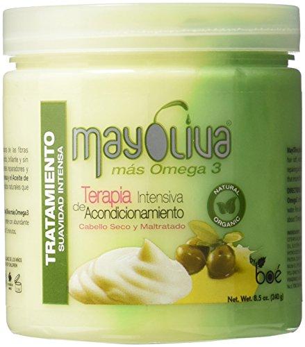 Mayoliva Mayonnaise und Olivenöl Haarkur - Behandlung 240g Gramm - Intensiv-Haarkur, Haarmaske für kaputtes Haar, Haarmaske für trockene Haare -