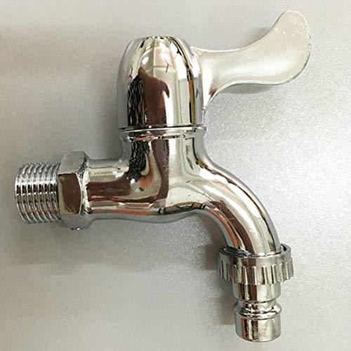 LNIMIKIY Wasserhahn für Kaltwasser-Waschbecken, Außenbereich, Kunststoff, Schnellöffnung, Wandmontage, ABS-Plattierung für Badezimmer, Einzelne Waschmaschine, Spule - Wasserhahn Einzelne Badezimmer Waschbecken