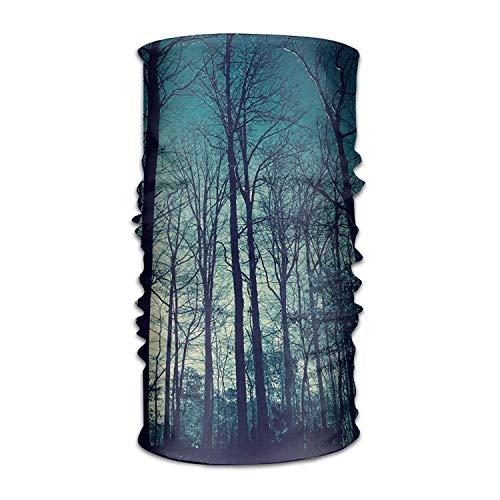 Blue Sky High Trees Headwear Bandanas Seamless Headscarf Outdoor Sport Headdress Running Riding Skiing Hiking Headbands (Gold Tree Garland)