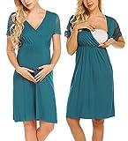Unibelle Damen Viskosejersey Umstandskleid Schwangerschafts Kleid Kurzarm