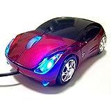 USB KART III Extreme Racing Optical PC mouse - Sports Car Shape - Red
