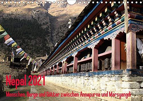 Nepal 2021 Menschen, Berge und Götter zwischen Annapurna und Marsyangdi (Wandkalender 2021 DIN A4 quer): Das Jahr entlang der Annapurna-Route im ... (Monatskalender, 14 Seiten ) (CALVENDO Orte)