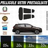 Fiat Tipo 5P dal 2016 ad OGGI Pellicole Oscuramento Vetri Auto Pre Tagliate a Misura - 20%