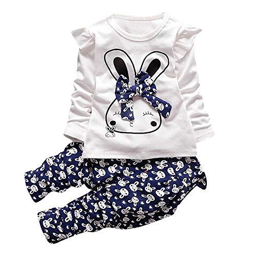 Filles Vêtements Ensemble, Petits Enfants bébé Fille Cartoon T-Shirt Tops  Pantalons vêtements 2pcs b3e30eb9eac