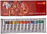 #10: Camlin Kokuyo Acrylic Color Box - 9ml tubes, 12 Shades