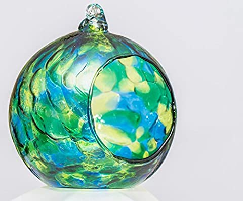 Friendship Hanging Glass Nightlight Globe - Sea Green by Milford Collection