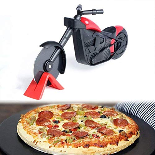 Yuciya Motorrad Pizzaschneider Edelstahl Pizza Chopper Pizzarad Slicer Roller Pizzaschneider