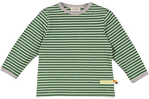 loud + proud Unisex Baby Sweatshirt Shirt Ringel, Grün (Pine/Natural Pin/NA), 92 (Herstellergröße: 86/92) (Grün Herbst Shirt)
