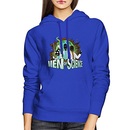 Planet Nerd - Men of Science - Damen Kapuzenpullover, Größe L, blau