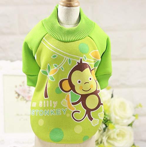 HVTKL Karikaturhund kleidet Haustierkleidung Haustierkleidung Katze kleidet den Frühling und Herbst und den neuen Winter HVTKL (Color : Grass green monkey, Size : - Green Superman Kostüm