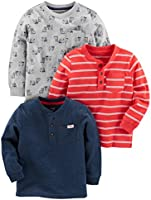 Simple Joys by Carter's Baby - Jungen T-Shirt 3-pack Long Sleeve Shirt