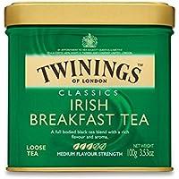 Twinings Colazione Irlandese Tè Sfuso Caddy (Blend Internazionale) - 100G (Confezione da 2) - Twinings Colazione Tè