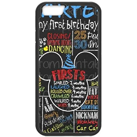 Mikey Mouse 004 cover iPhone 6 Plus 5.5 Inch Copertura di caso della cassa cover nera della copertura del telefono cellulare EOKXLKNBC25847
