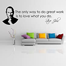 "Adesiviamo® Steve jobs ''The only way..."" Pegatinas de pared Vinyl Wall Stickers Decals"