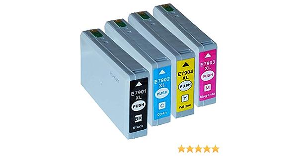 4x Drucker Ibc 79xl Patronen Kompatibel Für Epson Wf 4600 Series Wf 4630 Dwf Wf 4640 Dtwf Wf 5100 Series Wf 5110 Dw Wf 5110 Dwf Wf 5190 Dw Wf 5600 Series Wf 5620 Dwf Wf 5690 Dwf Inbusco Set Bürobedarf Schreibwaren