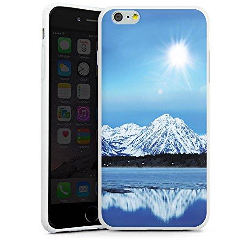 Apple iPhone X Silikon Hülle Case Schutzhülle Gebirge Schnee Gipfel Silikon Case weiß