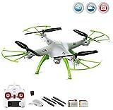 X5HC PRO-Edition - 4.5-Kanal ferngesteuerter Quadrocopter 3D Drohne mit HD-Kamera optional mit WIFI Live-Übertragung-Set erweiterbar, Höhenbarometer,Headless, 6-axis Gyro und vieles mehr, Mega-Set Crash-Kit und POWER UPGRADE ERSATZAKKU mit 3,7V 1200m - Best Reviews Guide