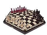 ChessEbook Schachspiel für Drei, 54 x 47 cm, Holz