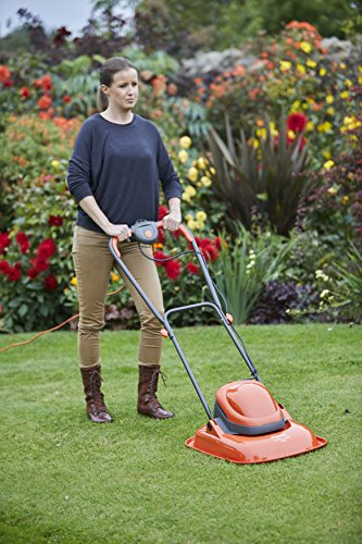 The Flymo FTL330 Turbo Lite Electric Hover Lawnmower is perfect for small gardens and is lightweight and easy to use. Weighing 6.5kg, you will not feel tired after mowing your garden as it floats on a cushion of air.