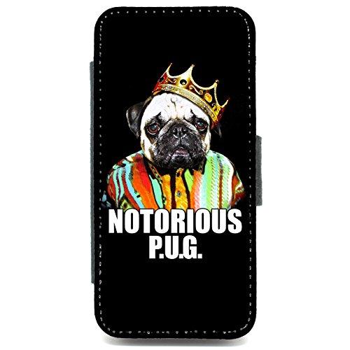 IPhone 5/5s, motivo carlino Notorious Custodia a portafoglio motivo retrò, motivo: cane carlino