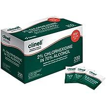 Clinell Toallitas ca2 C200, alcohólicas, 2% Clorhexidina