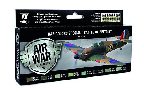 Vallejo 'RAF & FAA Special battaglia d'Inghilterra seconda guerra mondiale, modello Air-Kit per colorare, 8 Pezzi