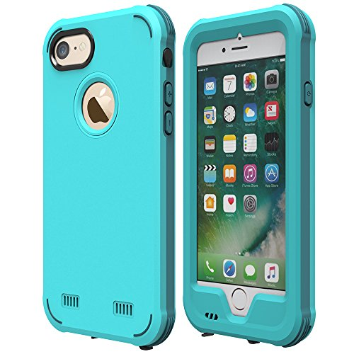 iPhone 6S Plus Custodia Impermeabile, ZVE® iPhone 6 Plus Custodia Impermeabile Case, Antipolvere, Anti Neve,Anti Urti, Heavy Duty Copertura Protettivo per iPhone 6S Plus/6 Plus 5,5 pollici (nero) Blue