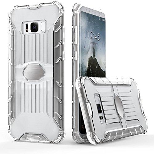 Galaxy S8 Transparente Hülle,EVERGREENBUYING [Metallplatte] Abnehmbare Hybrid Schein SM-G9500 Tasche Ultra-dünne Schutzhülle Cover Etui für Samsung GALAXY S8 Grün Clear