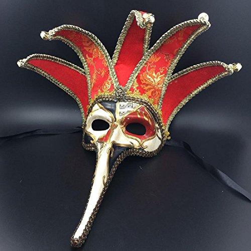 XJoel Luxus Cosplay Maskerade Plastik Venetianische Prinzessin Maske Italienische Maskerade Maske Kunstdruck Giclee (Italienische Masken Maskerade)
