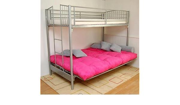 Etagenbett Metall Mit Couch : Etagenbett maverick mit sofa schlafplätze pinea amazon