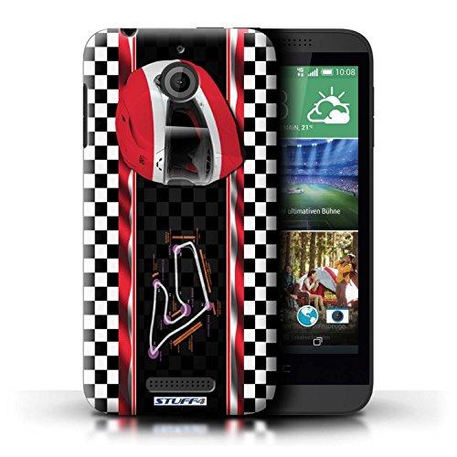 Kobalt® Imprimé Etui / Coque pour HTC Desire 510 / Hongrie/Budapest conception / Série F1 Piste Drapeau Autriche/Spielberg
