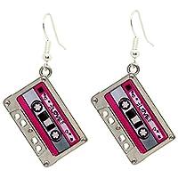 Bluebubble HEY DJ Tape Dangle Earrings With FREE Gift Box