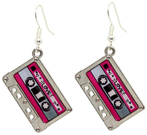 HEY DJ Cassette Dangle Earrings With FREE Gift Box