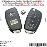 SFK Replacement Flip Key Shell for Hyundai I20, Verna, Xcent