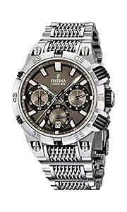 Festina - F16774/3 - Montre Homme - Quartz Analogique - Chronomètre - Bracelet Acier Inoxydable Argent
