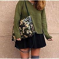 Zaino borsa donna-sacco donna e zainetto-Borse donne raggaza/Zaino impermeabile verde militare/Disegno e produzione proprio fatto a mano con amore/regali utili e originali