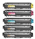 Merotoner® - 5 Toner Kompatibel zu Brother TN-242 TN-246 HL-3142 3152 3172 CW CDW kompatibel (BK,C,Y,M)
