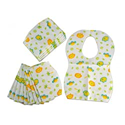 Mee Mee Bibs Disposable pack of 24 (White)