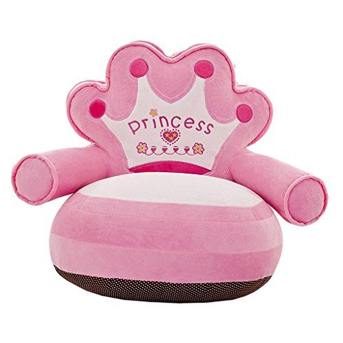 MagiDeal Kinder Kartoon Sofa Sitzsackbezg Sitzsack Sessel Bezug Sitzkissen Bean Bag - Princess- Rosa
