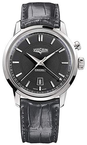 Vulcain Cricket 50s Presidents Herren Uhr analog Handaufzugwerk mit Leder Armband 110151G80.BAL129