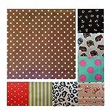 Unique Boutique - Ein Gepunktetes Stofftaschentuch braun rosa Herren Damen kleine Punkte Taschentuch Einstecktuck